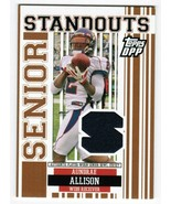 Aundrae Allison 2007 Topps Draft Picks Prospects Senior Standouts Jersey... - $3.00
