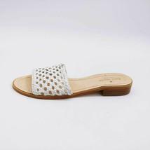 Kate Spade New York Womens Berlin Slide Sandals White Woven Leather Slip Ons 7 M - $34.64
