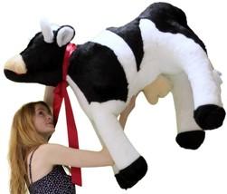 American Made Giant Stuffed Cow 42 Inch Big Plush Farm Animal Soft Made ... - $163.21