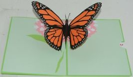 Lovepop LP1583 Butterfly PopUp Card SlideOut Note White Envelope Cellophane Wrap image 3