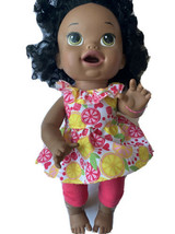 Baby Alive Super Snacks Snackin Sara Doll Black Hispanic Bilingual Talks Eats - $25.73