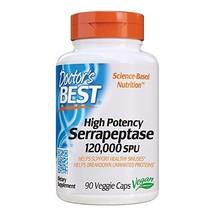 Doctor's Best High Potency Serrapeptase, Non-GMO, Gluten Free, Vegan, Supports H