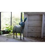 Garden Decor Reclaimed Metal Donkey Statue Figurine,22''H - $116.82