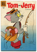 Tom and Jerry Comics 146 FVF 7.0 1956 MGM Cartoons Dell     - $24.74