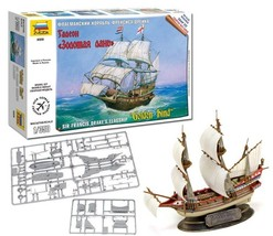 "Model Kit Ship 1/350 Sir Francis Drake's Flagship ""Golden Hind"" (6509) Z... - $21.00"