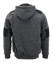 Boy's Soft Sherpa Lined Two Tone Quilted Juniors ZipUp Fleece Hoodie Kids Jacket image 5