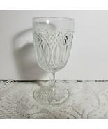 """Beautiful Sharp Cut Glass Goblet Wine Depression 6"""" Glass Clear Deep Cut... - $38.69"""