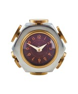Filister Table Clock - Desk Clock - Polished Aluminum - Brass - Home Office - $148.99