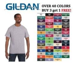 Gildan Ultra Cotton G 200 Crew Neck T Shirt Short Sleeve Basic Tee S- 5XL G2000 - $2.66+