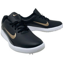 NIKE Women's 9.5 Vapor Golf Shoes Black/White/Bronze - $29.09