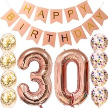 Sllyfo 30th Birthday decorations Party supplies-30th Birthday Balloons R... - €19,34 EUR