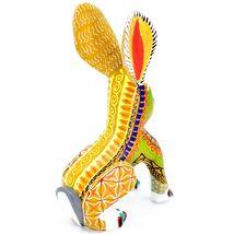 Handmade Alebrije Oaxacan Wood Carving Painted Folk Art Jackrabbit Rabbit Figure image 4
