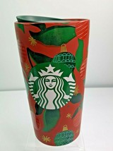 Starbucks 2019 Ceramic Holiday 12 oz Tumbler Cup Ornaments Red  Green NEW - $26.87