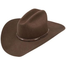 Resistol Jason Aldean Passin Through Brown 4X Wool Cowboy Hat Gus Crown ... - $105.00