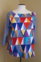 Sz PXL WESTBOUND PETITES colorful women's Shirt Blouse pre-owned - $10.84