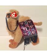 Ty Beanie Babies Plush Beanbag Lawrence the Camel Attic Treasures Purple... - $11.83