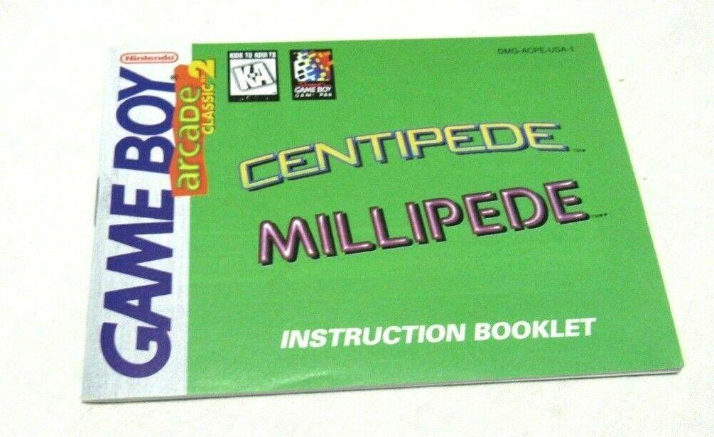 Centipede Millipede Nintendo Gameboy Original Game Instruction Manual Booklet - $7.58