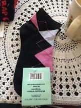 womens and girls ankle socks size 9-11 black argyle - $3.63