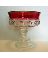 Tiffin Cranberry Ruby Flash Crystal Kings Crow... - $16.99