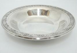 "Reed & Barton Silverplate Classic Rose Design Bon Bon Bowl Dish 6.5"" Vin... - $14.84"