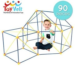 ToyVelt Fort Building Kits for Kids - 90-Piece Children's Crazy DIY Fort... - $43.00