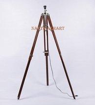 NauticalMart Designer Authentic Brown Sheesham Wood Tripod Lamp Base. - $98.01