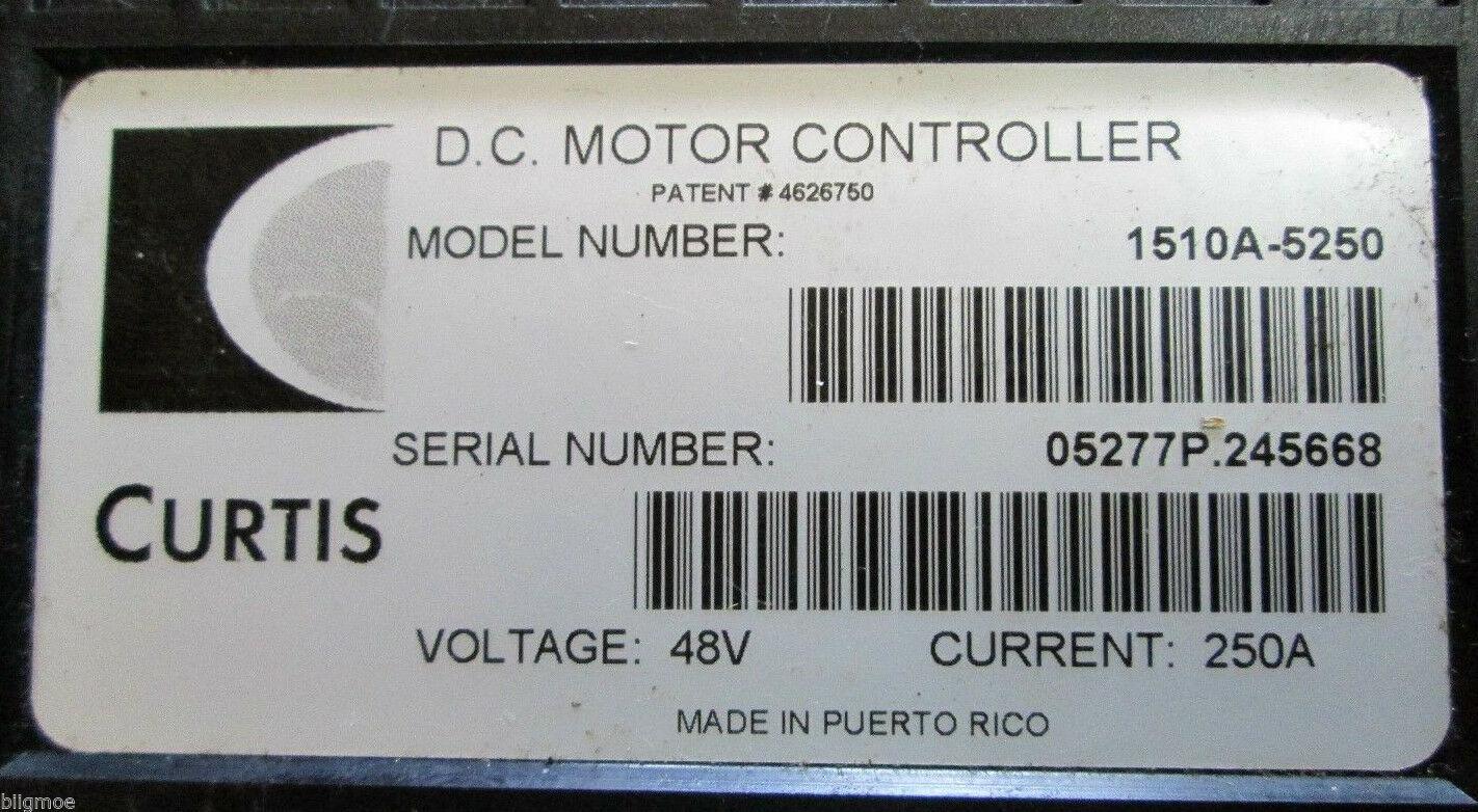 Curtis/Club Car Controller 2004-2009 #101956503to 48v 25a 1510A-5250,51,52 54