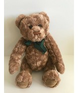 """Macy's New York Gund 16"""" Jointed Brown Teddy Bear with Green Ribbon - $21.49"""