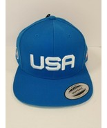 Hurley Men's Snapback Hat Blue USA Olympics New with Tags - $29.65