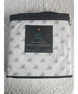 Cynthia Rowley Gray Camels on White Microfiber Sheet Set Twin - $45.00