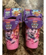 Set Of 2 Playtex 360 Paw Patrol Pink Spoutless Sippy Cups Nickelodeon - $12.86
