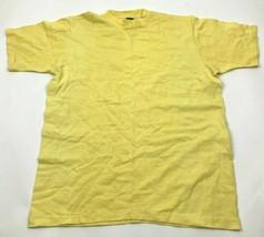 VINTAGE Shirt Size Extra Large XL Adult Yellow Single Stitch Tee USA MAD... - $14.03