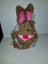 F9 * Professional Brown w/ White Spots Muppet Style Ventriloquist Bunny Puppet - $15.00