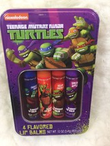 Nickelodeon Teenage Mutant Ninja Turtles 4 Flavored Lip Balms In Tin - $12.76