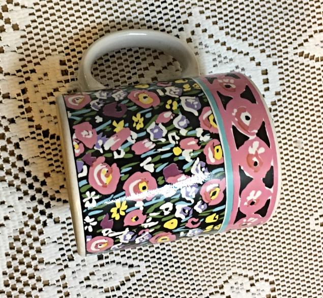 Vintage Ken Cornet Design Otagiri Japan Coffee Mug // Retro Stoneware Floral