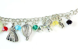 The WIZARD OF OZ Silver Beaded Charm Bracelet 7.5 inch NEW image 4