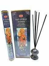 Hem San Judas Tadeo Natural Incense Sticks Indian Handroll Fragrance Agarbatti 1 - $19.79
