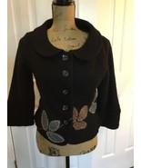 Nick & Mo Collection Jacket Medium Boucle Retro Cropped Applique Detail - $33.65