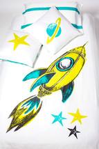 ATELIER EDELE %100 Organic Cotton Rocket Duvet Cover / Kid - Double - $45.00
