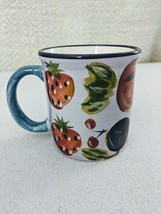 Fruit Painted Coffee Mug by Gibson - White - $7.91