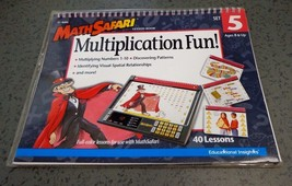Multiplication Fun!  Math Safari Lesson Book Set 5 Ages 8 & up EI-8406 - $8.56