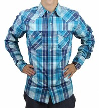 NEW LEVI'S MEN'S COTTON CASUAL BUTTON UP LONG SLEEVE PLAID SHIRT NVR-3LYLW6072