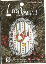 CHRISTMAS GOOSE Lace Ornament Cross Stitch Kit Designs for the Needle - ... - $8.47
