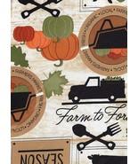 Elrene Fall Vinyl Tablecloth Harvest Farmers Market Farmhouse 52 x 70 Ob... - $18.80