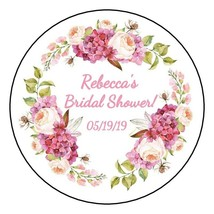 12 Boho Bridal Shower Stickers favors labels wedding floral wreath Baby ... - $8.99