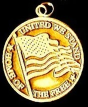 NICE Gold Plated God Bless America United Charm Jewelry - $36.19