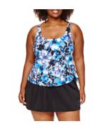 Le Cove Floral Swim Dress Plus Size 16W, 18W Msrp $104.00 New - $49.99