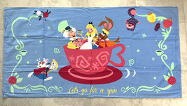 Disney Alice in Wonderland Mad Tea Party Ride Bath or Beach Towel NEW - $37.90
