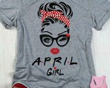 Born In April Birthday April Girl Wink Eye Tshirt Women Sport Grey M - 3XL