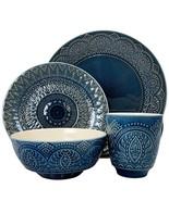 Elama's Petra 16 Piece Stoneware Dinnerware Set - $87.03